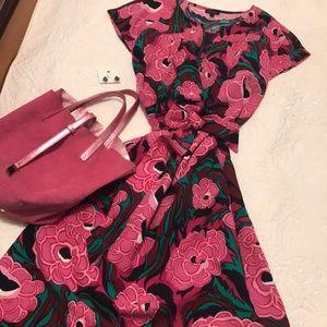 -TALBOTS- large floral shift dress